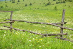 Old fence. Very old fence in the countryside Royalty Free Stock Photo