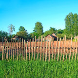 Old fence in village Stock Photo
