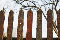 Old fence in village Royalty Free Stock Photos