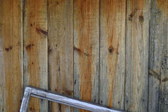 Old fence with a window frame Stock Photo