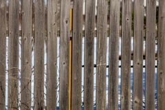 Old fence of wooden boards as background.  stock image