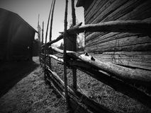 Old fence. The old yard in Loppi Finland Stock Images
