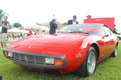 Old Ferrari Car at the car show Royalty Free Stock Images