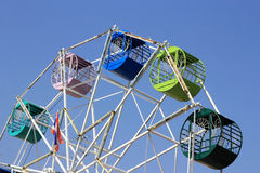 Old ferris wheel. On blue sky background Royalty Free Stock Photography