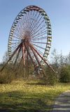 Old Ferris Wheel Spreepark. Old Ferris wheel in an abandoned amusement park Stock Photo
