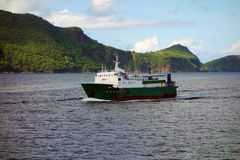 An old ferry in the grenadines Stock Photo