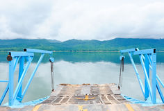 Old ferryboat across the lake Royalty Free Stock Photos