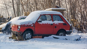 The old Fiat 126p Royalty Free Stock Photography