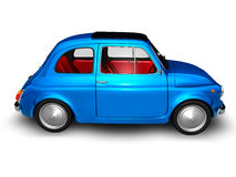 Old Fiat 500 1. 3D render of Fiat 500 on white background Stock Photo