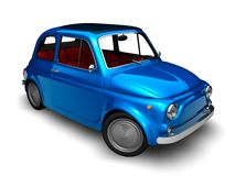 Old Fiat 500 2. 3D render of Fiat 500 on white background Royalty Free Stock Image
