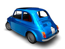Old Fiat 500 3. 3D render of Fiat 500 on white background Stock Photography