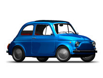Old Fiat 500 4. 3D render of Fiat 500 on white background Royalty Free Stock Image