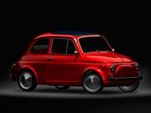 Old Fiat 500 6. 3D render of Fiat 500 on black background Royalty Free Stock Photo