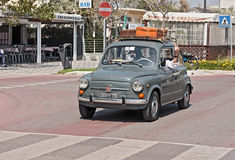 Old Fiat 600. Vintage economy car Fiat 600 at rally for old car 10° Rally of Roman Centuriae on june 2, 2012 in Cesenatico (FC) Italy royalty free stock photos