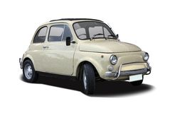 Old Fiat 500 Stock Photography