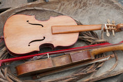 Old Fiddle. For sale in market Stock Images