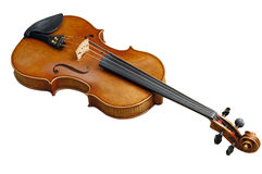 Old fiddle with path. Old fiddle isolate in the white background with clipping path royalty free stock images