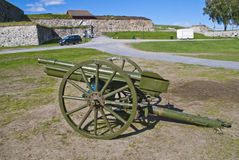 Old field gun. At fredriksten fortress in halden Stock Image