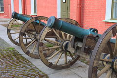 The old field six-pounder cannons royalty free stock photography