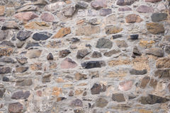 Old field stone wall background Stock Photography