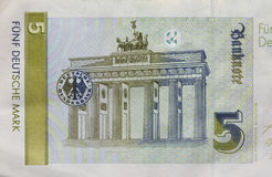 Old Fife Deutschmark Banknote, Bill Royalty Free Stock Images