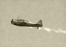 Old fighter airplane Royalty Free Stock Image