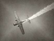 Old fighter airplane Royalty Free Stock Images