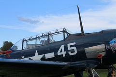 Old fighter fighter plane closeup Stock Photo