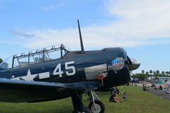 Old fighter fighter plane closeup Stock Photos