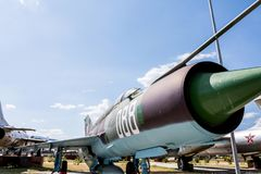 Old Fighter Military Jet Aircraft Royalty Free Stock Photo