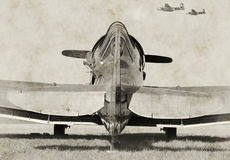 Old fighter plane Stock Photos