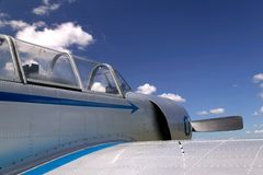 Old fighter plane. Royalty Free Stock Photo