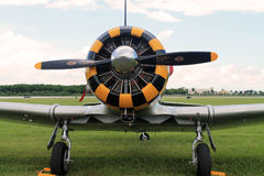 Old fighter plane engine Royalty Free Stock Photos