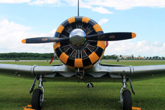 Old fighter plane engine Royalty Free Stock Photography
