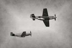 Old fighter planes Royalty Free Stock Photography
