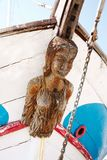 Old Figurehead on Sailing Ships. stock photo
