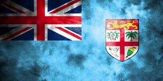 Old Fiji grunge background flag.  Royalty Free Stock Photos