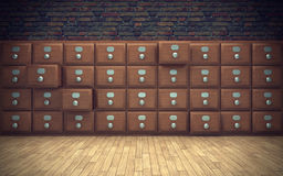 Old file cabinet. In room Stock Photo