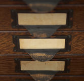 Old File Drawers Stock Photography