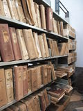 Old files in library. Library in Marsala on Sicily stock photos