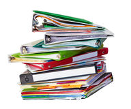 Old files stack Stock Image