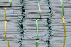 Old files stacking. Up in a messy order Royalty Free Stock Photos
