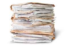 Old Files Stacking Up In A Messy Order Royalty Free Stock Images