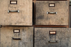 Old filing cabinet. Old business office used filing cabinet Royalty Free Stock Images