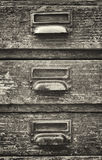 Old filing cabinet Royalty Free Stock Photo