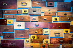 Old filing cabinet Royalty Free Stock Image