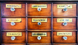 Old filing cabinet Royalty Free Stock Photos
