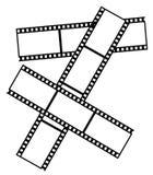 Old film. Frame in the shape of old film vector illustration