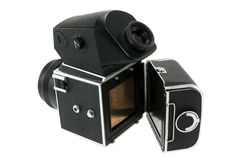 Old film camera. From USSR royalty free stock photos