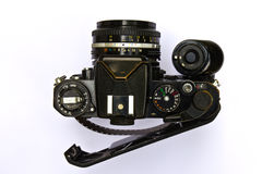 Old film camera. Royalty Free Stock Images